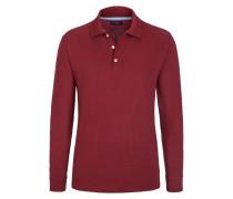 Polo-Kragen Sweatshirt, Regular Fit von Tom Rusborg in Dunkelrot für Herren
