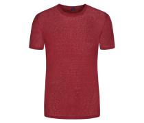 Rundhalsshirt, Leinen von Tom Rusborg in Rot für Herren