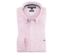 Slim Fit Stretch Businesshemd, Oxford, gestreift von Tommy Hilfiger in Rose für Herren