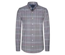 Kariertes Flanellhemd von Tom Rusborg in Grau für Herren