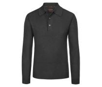 Pullover mit Polokragen aus 100% Kaschmir von Tom Rusborg Premium in Anthrazit für Herren