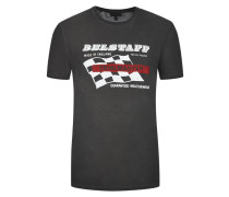 T-Shirt mit Racing-Motiv von Belstaff in Schw/weiss für Herren
