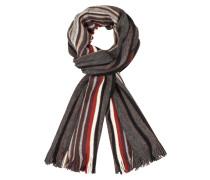 Mehrfarbiger Wollmix Schal von Tom Rusborg in Anthrazit für Herren
