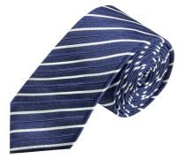 Schmale Streifen-Krawatte von Olymp in Blau für Herren