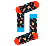 Socken mit Party-Motiv