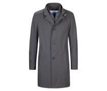 Lässiger Stehkragen-Mantel mit Details in Lederoptik von Cinque in Grau für Herren
