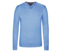 V-Neck Pullover, Cotton Cashmere von Tommy Hilfiger in Hellblau für Herren