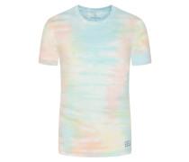 T-Shirt in Batik-Optik in Blau