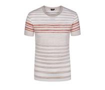 Lässiges T-Shirt im Streifen-Dessin, Regular-Fit (Beige) von Boss