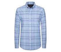 Kariertes Flanellhemd von Tom Rusborg in Hellblau für Herren