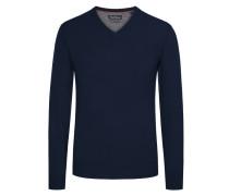 Merino/Kaschmir V-Neck Pullover von Tom Rusborg in Marine für Herren