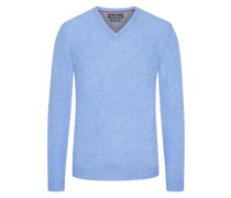 Pullover im Merino-Mix, V-Neck  Hell