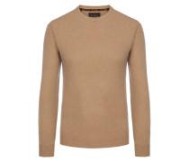 O-Neck Pullover aus 100% Kaschmir von Tom Rusborg Premium in Natur für Herren