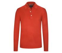 Pullover mit Polokragen aus 100% Kaschmir von Tom Rusborg Premium in Rost für Herren