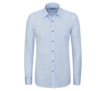 Aktuelles Karo-Trachtenhemd von Gloriette in Hellblau für Herren