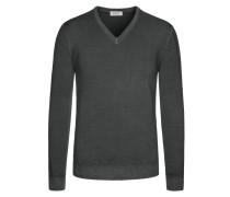 Weicher Pullover aus 100% Merinowolle von Heritage in Anthrazit für Herren