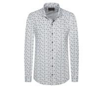 Gemustertes Freizeithemd von Tom Rusborg Premium in Grau für Herren