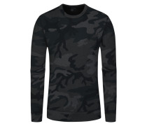 Sweatshirt mit Camouflage-Muster in Grau für Herren