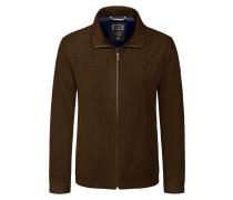 Leichte Jacke in Blouson-Form, Microma Velours von Bugatti in Cognac für Herren