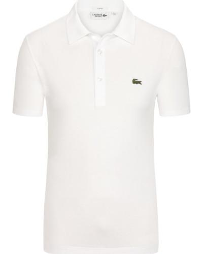 Slim Fit Poloshirt mit Waffelpique-Struktur