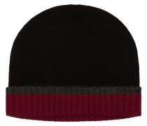 Warme Kaschmir-Strickmütze von Tom Rusborg Premium in Schwarz für Herren