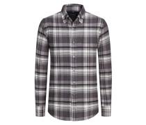 Aktuelles Flanellhemd aus 100% Baumwolle von Tom Rusborg in Grau für Herren