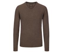 V-Neck Pullover aus 100% Kaschmir von Tom Rusborg Premium in Braun für Herren