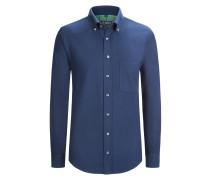 Aktuelles Flanellhemd aus 100% Baumwolle von Tom Rusborg in Marine für Herren