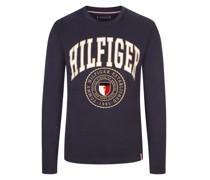 Sweatshirt mit Logo-Emblem  Marine