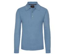 Pullover mit Polokragen aus 100% Kaschmir von Tom Rusborg Premium in Hellblau für Herren