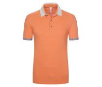 Detailverliebtes Poloshirt von Bob in Orange für Herren
