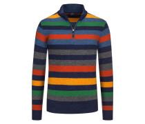Pullover aus reiner Schurwolle, Troyer-Kragen von Paul & Shark in Blau für Herren