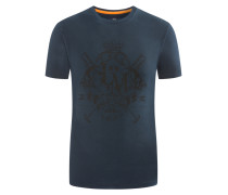 T-Shirt mit Frontprint von La Martina in Marine für Herren