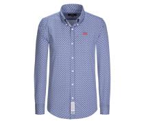 Hochwertiges Freizeithemd aus 100% Baumwolle von La Martina in Marine für Herren