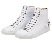 Trendiger Sneaker in High-Top-Form, Borough von Belstaff in Weiss für Herren