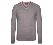 Pullover aus 100% Merinwolle von Tom Rusborg in Silber für Herren