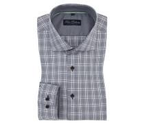 Kariertes Businesshemd mit extra kurzem Arm von Tom Rusborg in Grau für Herren