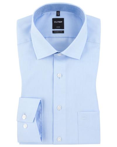 Luxor modern fit Hemd, feine Struktur von Olymp in Hellblau für Herren