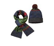 Mütze & Schal im Set von Tom Rusborg in Blau für Herren