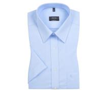 Comfort Fit Kurzarmhemd mit Brusttasche von Eterna in Hellblau für Herren