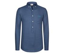 Kariertes Trachtenhemd, Bennett von Luis Trenker in Blau für Herren