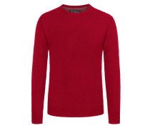 Bequemer O-Neck Pullover von Tom Rusborg in Rot für Herren