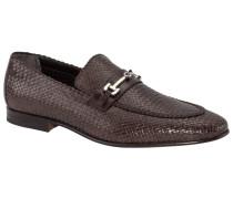 Loafer Flechtleder-Optik mit Schnalle