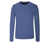 Pullover im Merino-Mix, O-Neck  Denim