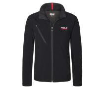 Sportive Softshell-Jacke, wasserabweisend von Polo Sport in Schwarz für Herren