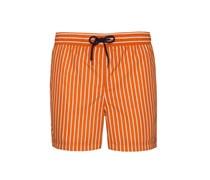 Gestreifte Badehose von Tom in Orange für Herren