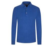 Pullover mit Polokragen aus 100% Kaschmir von Tom Rusborg Premium in Blau für Herren