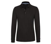 Polo-Kragen Sweatshirt, Regular Fit von Tom Rusborg in Schwarz für Herren