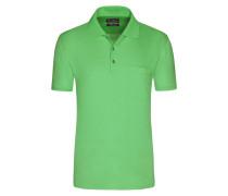 Mercerisierters Poloshirt mit feiner Musterung von Tom Rusborg in Gruen für Herren