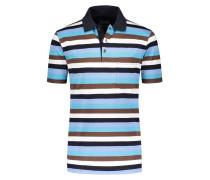 Mercerisiertes Poloshirt mit Brusttasche von Tom Rusborg in Blau für Herren